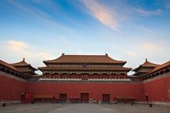 Das Mittagsgatter. Verbotene Stadt. Peking, China. Lizenzfreies Stockfoto