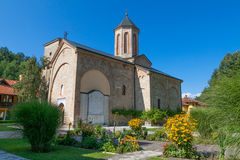 Das mittelalterliche Kloster Lizenzfreies Stockbild