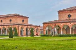 Das mittelalterliche Kloster des Kartäuserordens in Ferrara, Italien stockfotos