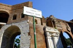 Das mittelalterliche Muro Torto in Rom Lizenzfreies Stockbild
