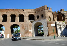 Das mittelalterliche Muro Torto in Rom Lizenzfreie Stockbilder
