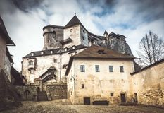 Das mittelalterliche Orava-Schloss, Slowakei lizenzfreies stockbild