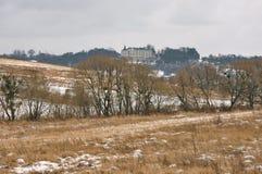 Das Mittelalterschloss, Landschaft Lizenzfreies Stockbild