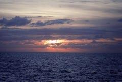 Das Mittelmeer Sonnenuntergang stockfotos