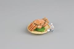 das Modell der Chefzahl von Hokkaido-Krabbe Lizenzfreies Stockbild