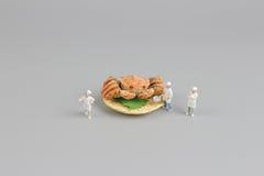 das Modell der Chefzahl von Hokkaido-Krabbe Stockbild