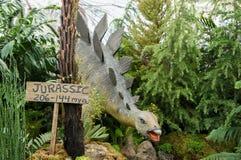 Das Modell des Dinosauriers im Konservatorium Lizenzfreies Stockfoto