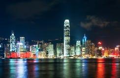Das moderne Gebäude der Hong Kong-Finanzmitte Lizenzfreie Stockbilder