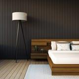 Das moderne Schlafzimmer Lizenzfreies Stockbild
