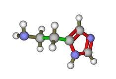 Das Molekül des Histamins Lizenzfreie Stockfotografie