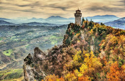 Das Montale, dritter Turm von San Marino Stockfotos