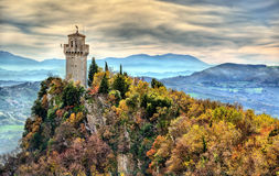 Das Montale, dritter Turm von San Marino Stockfotografie