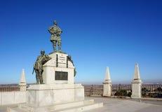 Das Monument an der Terrasse von Alcazar in Todelo, Spanien Stockbild