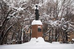 Das Monument des einzigen weiblichen Premierministers von Indien Indira Gandhi in Moskau, Russland Lizenzfreie Stockfotografie