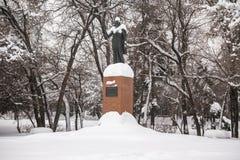 Das Monument des einzigen weiblichen Premierministers von Indien Indira Gandhi in Moskau, Russland Stockbilder