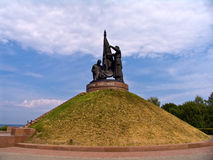 Das Monument des Militärruhmes Stockfotografie