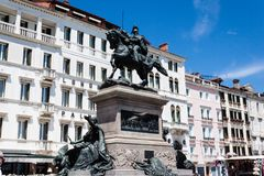Das Monument Monumento Nazionale Victor Emmanuels II Vittorio Emanuele II Stockfotografie