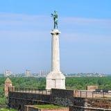 Das Monument Pobednik (der Sieger) in Belgrad, Serbien Lizenzfreie Stockfotos