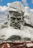 Das Monument zu den Verteidigern der Brest-Festung am Anfang von Nazi Germany nahm die UDSSR in Angriff, genannt ` Mut Lizenzfreie Stockfotografie