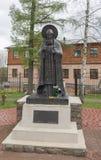 Das Monument zu ehrwürdigem Cornelius 'Pskov-Höhlen Stockfotos