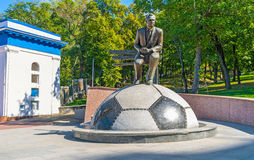 Das Monument zu Valeriy Lobanovskiy stockbild