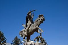 Das Monument zu Vardan Mamikonyan in Gyumri, Armenien lizenzfreie stockfotos