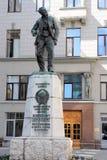 Das Monument zum Revolutionär und zum Diplomaten Vaclav Vatslavovich Vorovsky in Moskau Stockfotografie