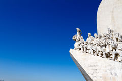 Das Monunent zu den Entdeckungen in Lissabon, Portugal lizenzfreie stockfotos