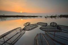 Das Morgen Knall Phra-Reservoir Lizenzfreies Stockfoto
