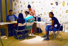 Das 6. Moskau Biennale der zeitgenössischer Kunst Stockbilder