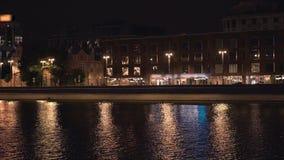 Das Moskau-Flusspanorama stock video