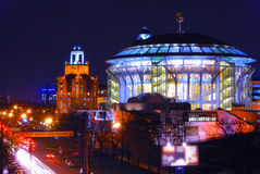 Das Moskau-Haus von Musik lizenzfreies stockbild