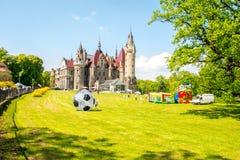 Das Moszna-Schloss Lizenzfreie Stockfotos