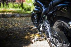 Das Motorrad des Stoßdämpfers Stockfoto