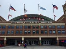 Das Museum Chicago-Kinder an einem regnerischen Tag stockfoto