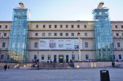 Das Museum Museo Reina Sofia in Madrid lizenzfreie stockbilder