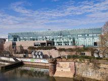 Museum von modernem und zeitgenössische Kunst von Straßburg Stockbilder