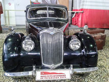 Das Museum von Retro- Autos in Moskau-Region von Russland Lizenzfreies Stockbild