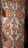 Das Muster auf dem Schild eines Krieger Asmat-Stammes Lizenzfreie Stockfotos