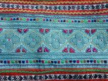 Das Muster auf handgemachter Tasche Stockbilder