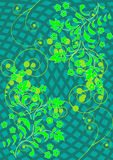 Das Muster der Blumen und der Blätter Lizenzfreie Stockbilder