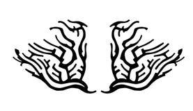Das Muster der Flügel stock abbildung
