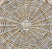 Das Muster der gesponnenen Flechtweide. Lizenzfreie Stockbilder