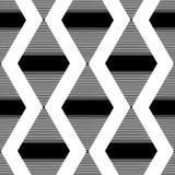 Das Muster der schwarzen gestreiften Rauten Stockfoto