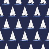 Das Muster der Yacht ist Aquarell vektor abbildung