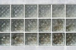 Das Muster des Blockglases auf der Wand Lizenzfreies Stockbild