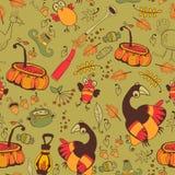 Das Muster für die Herbstferien Stockfotografie
