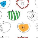 Das Muster von bunten Äpfeln in der skandinavischen Art Lizenzfreie Stockfotografie