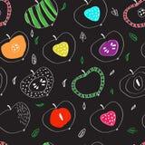 Das Muster von bunten Äpfeln in der skandinavischen Art Lizenzfreie Stockbilder