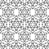 Das Muster von Schneeflocken in einer isometrischen Art stockbilder